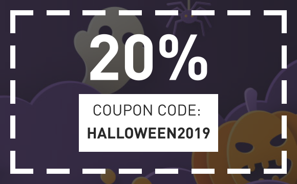 2019 October coupon 20% off