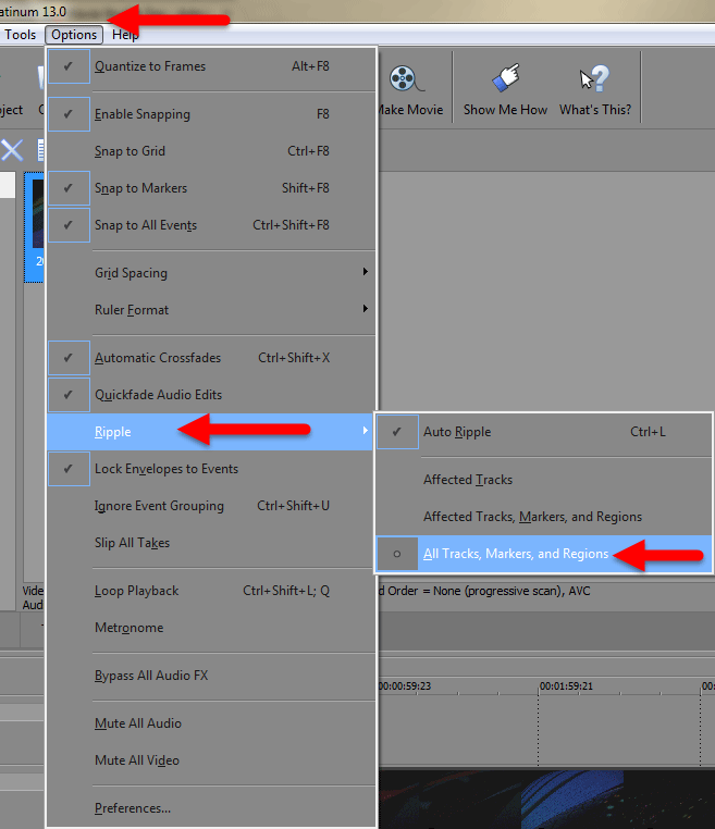 Auto Ripple Mode Settings