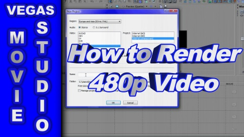How to Render 480p Video using Sony Vegas Movie Studio HD Platinum 10
