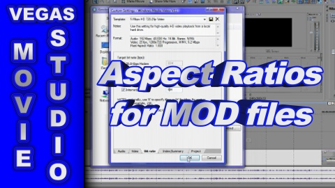 How to Fix Aspect Ratios for MOD & MPEG Video using Sony Vegas Movie Studio