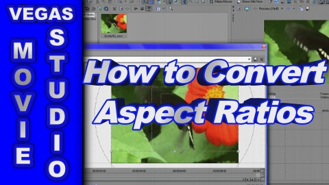 How to Convert 4:3 to 16:9 Aspect Ratio Video using Sony Vegas Movie Studio
