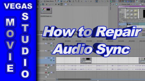 How to Repair Audio Synchronisation Problems using Sony Movie Studio Platinum