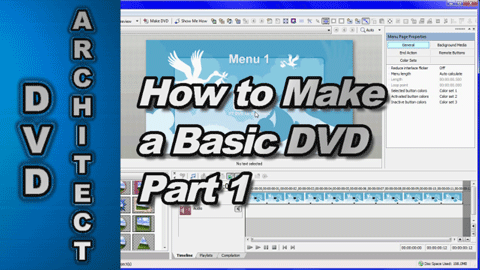 How to make a Basic DVD using Vegas Movie Studio & DVD Architect Studio (Part 1)