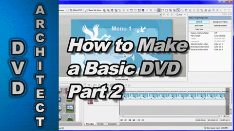 How to make a Basic DVD using Vegas Movie Studio & DVD Architect Studio (Part 2)