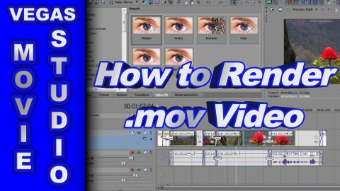 How to Render a .mov Video using Sony Vegas Movie Studio