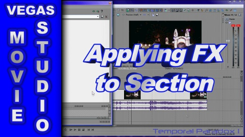 How to Apply Video FX to one part of a Video using Sony Vegas Movie Studio