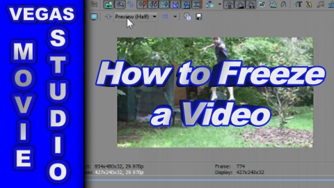 How to Freeze a Video using Sony Vegas Movie Studio & Vegas Pro