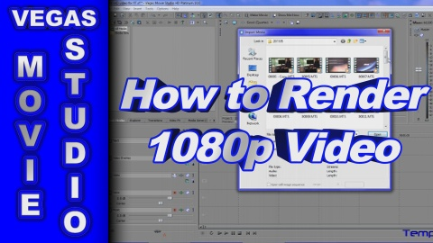How to Render 1080p Video using Sony Vegas Movie Studio HD Platinum 10