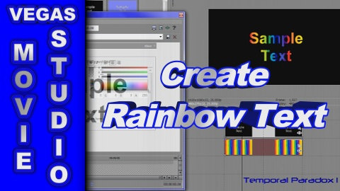 How to Create Rainbow Text using Sony Vegas Movie Studio