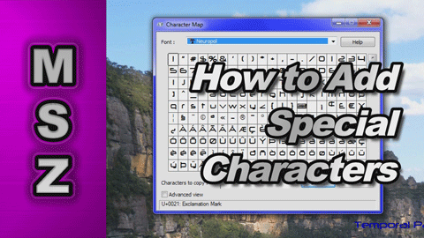 How to Find and Use Special Characters (Character Map) on your Computer