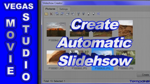 How to use the Slideshow Creator in Sony Vegas Movie Studio