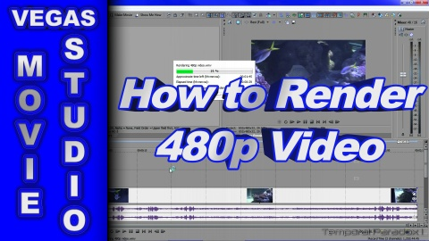 How to Render 480p Video using Vegas Movie Studio HD Platinum 11 *Old Version*