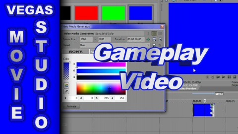 How to make Game-Play Videos Full Screen using Sony Vegas Movie Studio