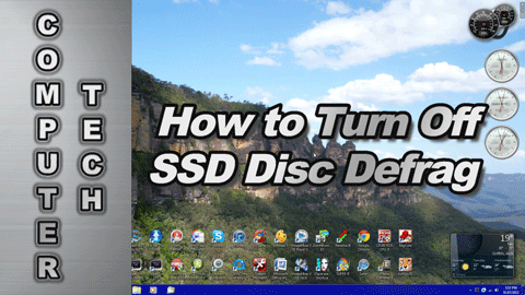 How to Turn Off Disk Defragmentation for an SSD (Solid State Drive)