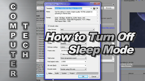 How to Turn Off Sleep Mode and Set your CPU Speed to 100% for Rendering