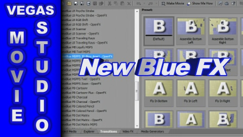 Which New Blue FX are bundled with Vegas Movie Studio Suite 11 ?