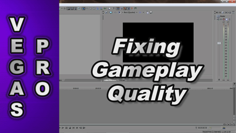 Why does my Gameplay Video Captures look Lower Quality in Sony Vegas ?