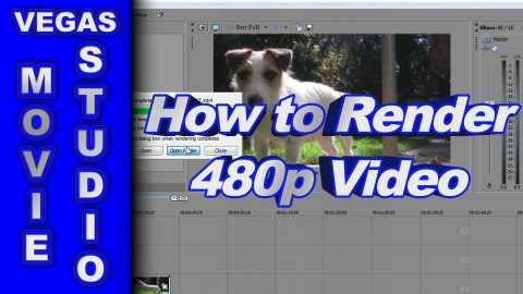 How to Render 480p Video using Vegas Movie Studio HD Platinum 11 *New Version*