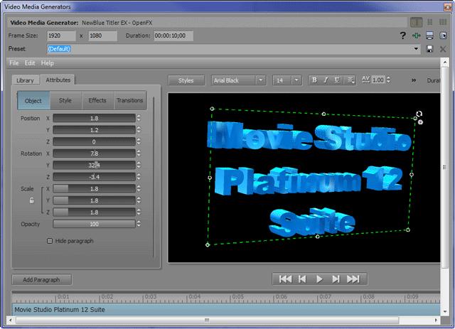 Buy Sony Movie Studio Platinum 12 Suite Mac