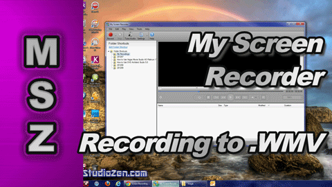 My Screen Recorder by Deskshare - Recording to Windows Media Video