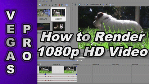 How to Render 720p & 1080p Video using Sony Vegas Pro 12