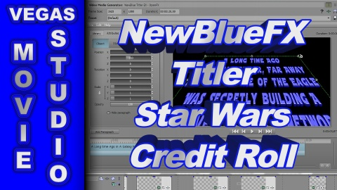 How to Create the Star Wars Credit Roll with New Blue Titler EX