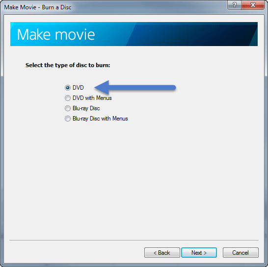 Make Movie DVD