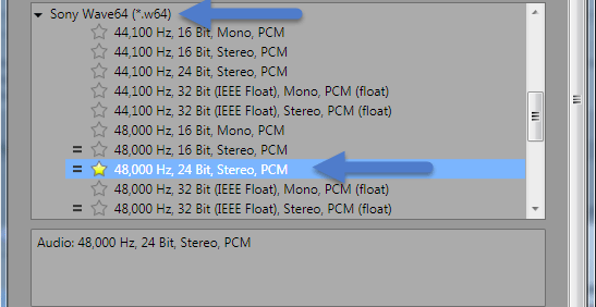 Selecting Audio for Blu-ray