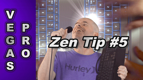 Zen Tip #5: Keyboard Shortcuts for Sony Vegas Pro and Movie Studio