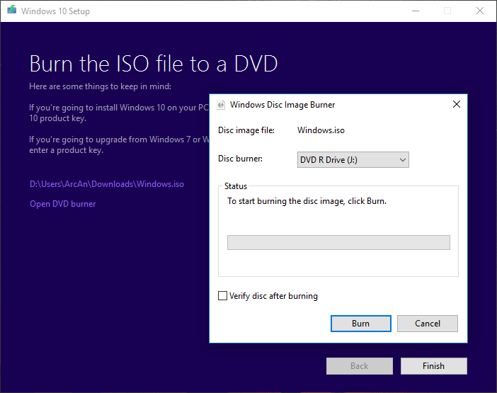 how to install windows 10 onto another drive
