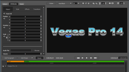 vp14 features titler pro3 9b