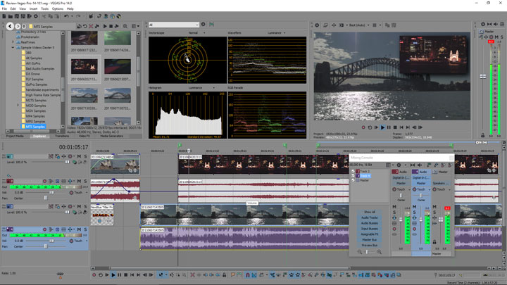 Vegas Pro 14 User Interface