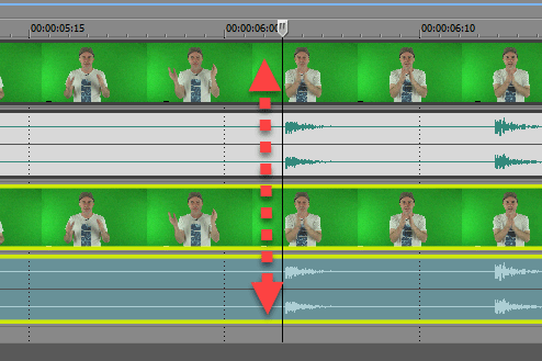 multi cam timeline sync points