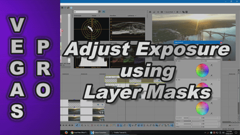 How to Adjust Extreme Exposure using Layers Masks with Vegas Pro
