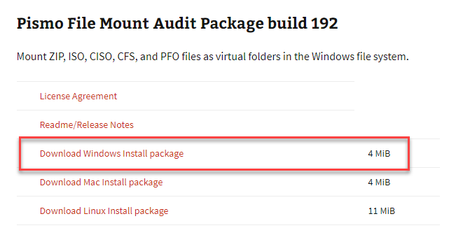 pizmo file mount audit package