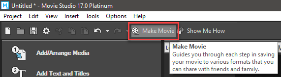 make movie button