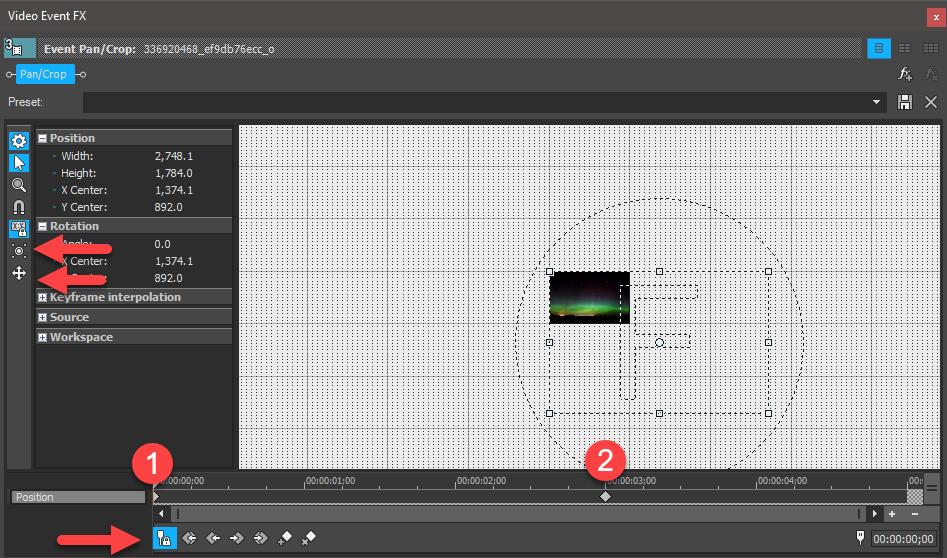 sony vegas keyframe animation